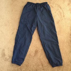 Vintage 90's Nike Running Pants Navy Size Large